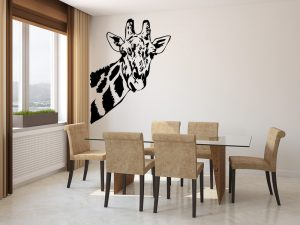 Giraffe Face Wall Decal